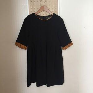 NWOT Zara Trafaluc Black Pocket Pleat Dress